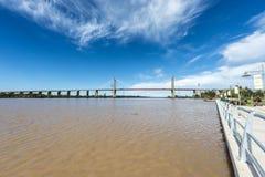 Zarate Brazo Largo Bridge, Rios de Entre, Argentina Fotografia de Stock