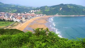 Zarauz, Pais Vasco, Spanien stock video footage