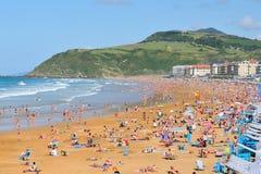Zarauz plaża Zdjęcia Stock