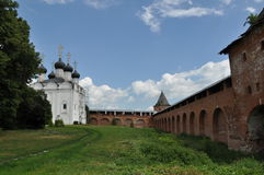 Zaraysk het Kremlin Stock Foto