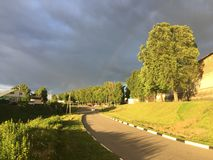 Zaraysk Russia before the storm stock images