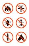 Zaraza setu kontrola szkodliwy, ścigi, insekty wektor Ilustracja Wektor