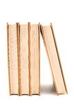 zarezerwuj cztery białe tło Fotografia Stock