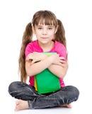 zarezerwuj dziewczyn young pojedynczy białe tło Obraz Royalty Free