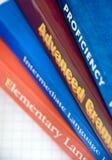 zarezerwuj wyboru język angielski Obraz Stock