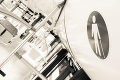 Zarezewowanej siedzenie etykietki onboard autobus dla starzejących się ludzi Fotografia Royalty Free