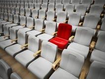 Zarezewowany kina lub theatre siedzenie Fotografia Stock