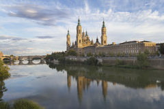 Zaragoza, Pilar Cathedral, Spain Royalty Free Stock Images