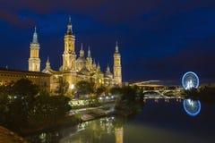 Zargoza, Pilar Cathedral, Spanje Royalty-vrije Stock Fotografie
