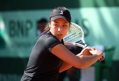 Zarina Diyas (KAZ) at Roland Garros 2011 Royalty Free Stock Image