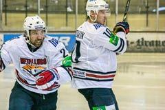 Zaripov en Mozyakin Stock Foto's
