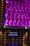 Zarkana在唱腔在拉斯维加斯, 2013年8月06日的NV的剧院标志 库存照片