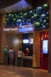 Zarkana-Ticketstand an der Arie in Las Vegas, Nanovolt am 6. August 2013 lizenzfreies stockfoto
