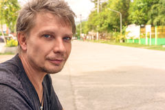 Zarośnięty mężczyzna selfie Zdjęcia Stock