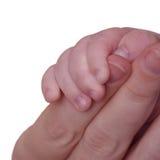 Zarte Hände lokalisiert auf weißem Hintergrund Lizenzfreie Stockbilder