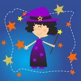 Zarte Halloween-Persönlichkeit der Hexe Stockbild