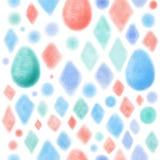 Zarte helle Mustereier Ostern vektor abbildung