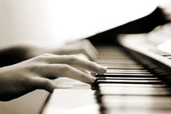 Zarte Klaviermusik Lizenzfreies Stockbild