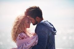 Zarte Paare in der Liebe zusammen Lizenzfreie Stockfotografie