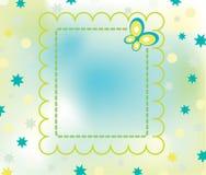 Zarte Retro- Karte mit Basisrecheneinheit Stockbild