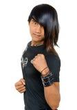 Zarter asiatischer Kämpfer Stockfoto
