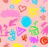 Zartes lustiges nahtloses Muster des Sommers Stockbild