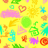 Zartes lustiges nahtloses Muster des Sommers Lizenzfreies Stockbild