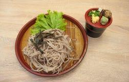 Zaru-soba (japanische Nudelkälte) lizenzfreies stockfoto