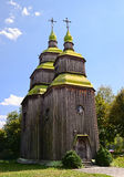 Zarubincy wooden village church Stock Photography