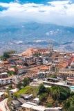 Zaruma - uma cidade bonita da cume nos Andes, Equador Imagem de Stock
