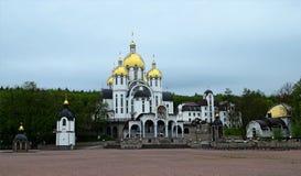 Zarvanytsia精神中心-世界Mariiskaya假期中心,其中一座乌克兰希腊人的最大的Podolian寺庙 图库摄影