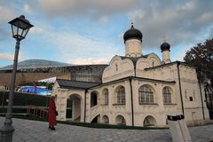Zaryadye公园建筑学在莫斯科 圣安妮的构想的教会 免版税库存图片