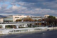 Zaryadye公园建筑学在莫斯科 图库摄影