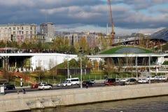 Zaryadye公园建筑学在莫斯科 免版税库存图片