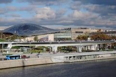 Zaryadye公园建筑学在莫斯科 库存图片