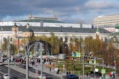 Zaryadye公园建筑学在莫斯科 免版税库存照片