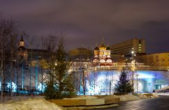 Zaryadye Park,the Main attraction of the city. Russia.2019. City the Moscow . Zaryadye Park,the Main attraction of the city. Russia.2019 royalty free stock photography