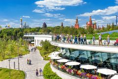 Zaryadye Park Near Moscow Kremlin Stock Photography