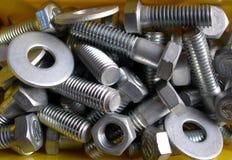 zarygluj metal orzechy Fotografia Stock