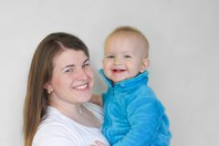 zarygluj składu pojęcia rodziny orzechy matka dziecka Obraz Royalty Free