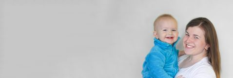 zarygluj składu pojęcia rodziny orzechy matka dziecka dziecko się uśmiecha Fotografia Stock