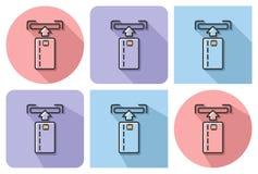 Zarysowana ikona ATM karta Royalty Ilustracja