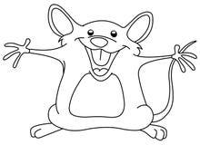 Zarysowana szczęśliwa mysz Obraz Royalty Free