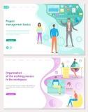 Zarządzanie Projektem podstawy, miejsce pracy organizacja ilustracja wektor