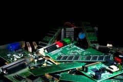 zarząd części obwodu sterty śmieci komputerowy Obrazy Royalty Free