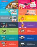Zarządzania cyfrowego marketingowego srartup planistyczny seo ilustracji