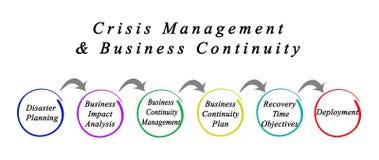 Zarządzania Kryzysowe & biznesu ciągłość ilustracji