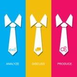Zarządzania pojęcie z krawatem i precyzujący kroki proces Zdjęcie Royalty Free