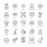 Zarządzania Przedsiębiorstwem i przyrosta wektoru linii ikony 25 ilustracji