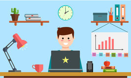 Zarządzania srartup cyfrowych marketingowych planistycznych analityka projekta kreatywnie drużynowy wynagrodzenie na stuknięcia s Fotografia Stock
